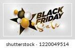 vector black friday sale poster ... | Shutterstock .eps vector #1220049514