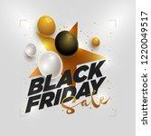 vector black friday sale poster ... | Shutterstock .eps vector #1220049517