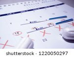 pregnancy test with not... | Shutterstock . vector #1220050297