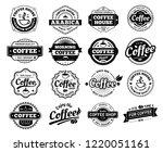 coffee badges. cafe logo stamp... | Shutterstock .eps vector #1220051161