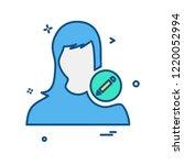 female icon design vector  | Shutterstock .eps vector #1220052994