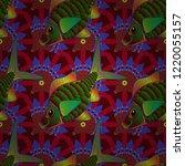 vector illustration. seamless... | Shutterstock .eps vector #1220055157