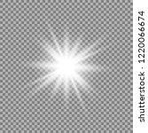 white glowing light burst... | Shutterstock .eps vector #1220066674
