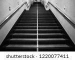 empty stair case in metro... | Shutterstock . vector #1220077411