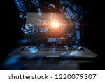 concept of e business and... | Shutterstock . vector #1220079307