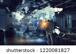 his strategy of global business | Shutterstock . vector #1220081827