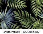 green red exotic pattern.... | Shutterstock .eps vector #1220085307