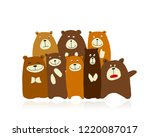 funny bears family  sketch for... | Shutterstock .eps vector #1220087017
