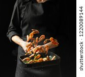 professional chef prepares... | Shutterstock . vector #1220089144