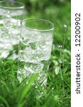 sparkling water with icecubes... | Shutterstock . vector #12200902