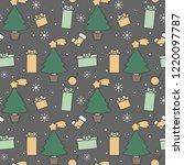 cute cartoon christmas elements ...   Shutterstock .eps vector #1220097787