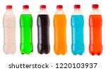 set of various bottles of soda... | Shutterstock . vector #1220103937