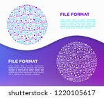 file formats concept in circle... | Shutterstock .eps vector #1220105617