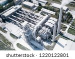 cement production  plant for... | Shutterstock . vector #1220122801