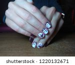 the manicurist excellently made ... | Shutterstock . vector #1220132671