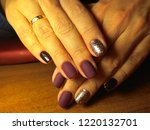 the manicurist excellently made ... | Shutterstock . vector #1220132701