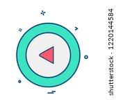 left arrow icon design vector | Shutterstock .eps vector #1220144584