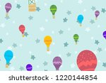 kids room wallpaper with... | Shutterstock .eps vector #1220144854