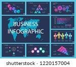 set of analysis or teamwork... | Shutterstock .eps vector #1220157004