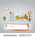 hand drawn city | Shutterstock .eps vector #122017171