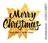 merry christmas and happy new... | Shutterstock .eps vector #1220174857