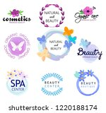 logos of natural health and...   Shutterstock .eps vector #1220188174