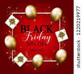 black friday sale poster with...   Shutterstock . vector #1220219977