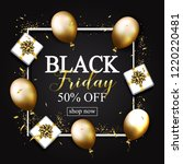 black friday sale poster with...   Shutterstock . vector #1220220481