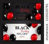 black friday sale horizontal...   Shutterstock . vector #1220220781