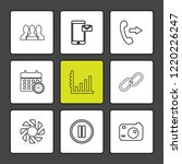 9 web icon set | Shutterstock .eps vector #1220226247
