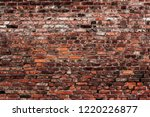 old brick wall background.... | Shutterstock . vector #1220226877