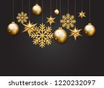 christmas  new year and winter...   Shutterstock . vector #1220232097