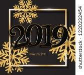 happy new year design black...   Shutterstock . vector #1220232454