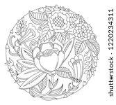vector floral circle design.... | Shutterstock .eps vector #1220234311