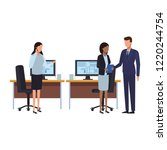 business people and office | Shutterstock .eps vector #1220244754