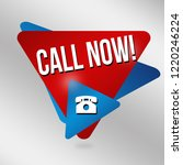 call now sign or label on grey... | Shutterstock .eps vector #1220246224
