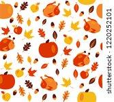 seamless thanksgiving day...   Shutterstock .eps vector #1220252101