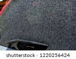 dirty car glass in dust stained ... | Shutterstock . vector #1220256424