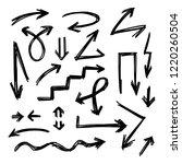 illustration of grunge sketch... | Shutterstock .eps vector #1220260504