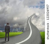 concept of the road to success... | Shutterstock . vector #122026957