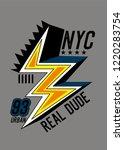 new york real dude t shirt... | Shutterstock .eps vector #1220283754