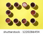 frame of coffee cups with... | Shutterstock . vector #1220286454