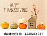 thanksgiving message with... | Shutterstock . vector #1220286754