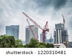construction sites in modern... | Shutterstock . vector #1220310481