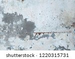 rusty stains on old concrete... | Shutterstock . vector #1220315731