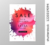 sale website banner. sale tag.... | Shutterstock .eps vector #1220319094