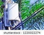 micro cellular 3g  4g  5g. base ... | Shutterstock . vector #1220322274
