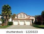 a suburban house in california   Shutterstock . vector #1220323