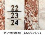 Small photo of Marble twenty two twenty three twenty four numbers