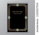 golden  black and blue... | Shutterstock .eps vector #1220327314